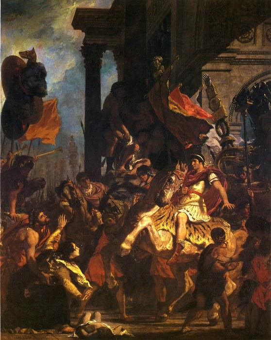 La justice de Trajan by Delacroix