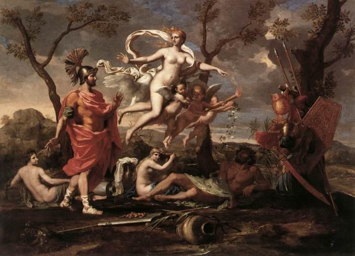 Venus Presenting Arms to Aeneas by Nicolas Poussin