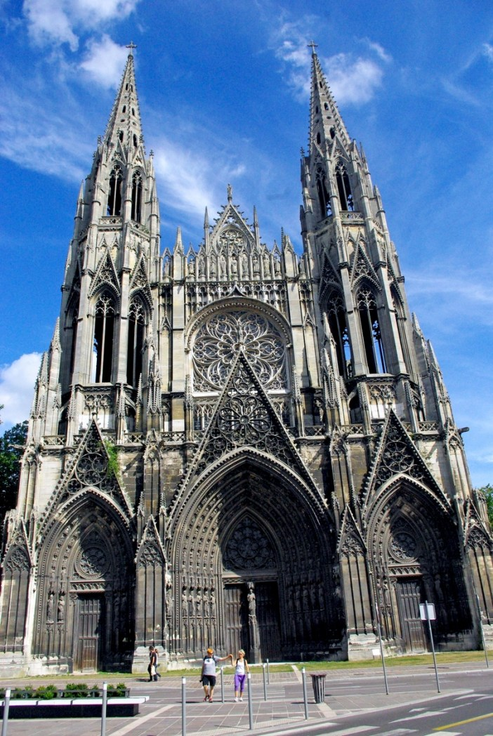 Western Facade of Saint Ouen Abbey Church in Rouen © French Moments