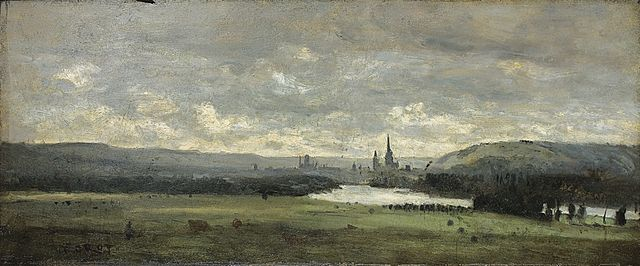 Rouen by Jean-Baptiste-Camille Corot