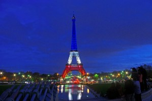Eiffel Tower Blue White Red Paris 06 © French Moments