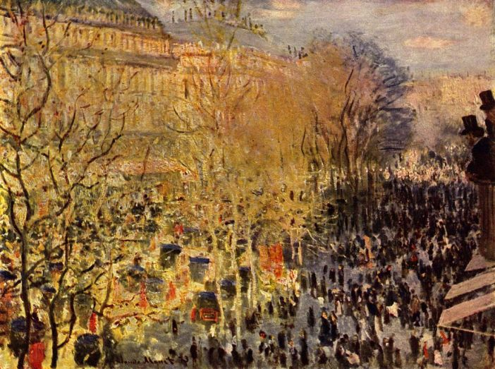 Carnaval boulevard des Capucines 1873 by Claude Monet