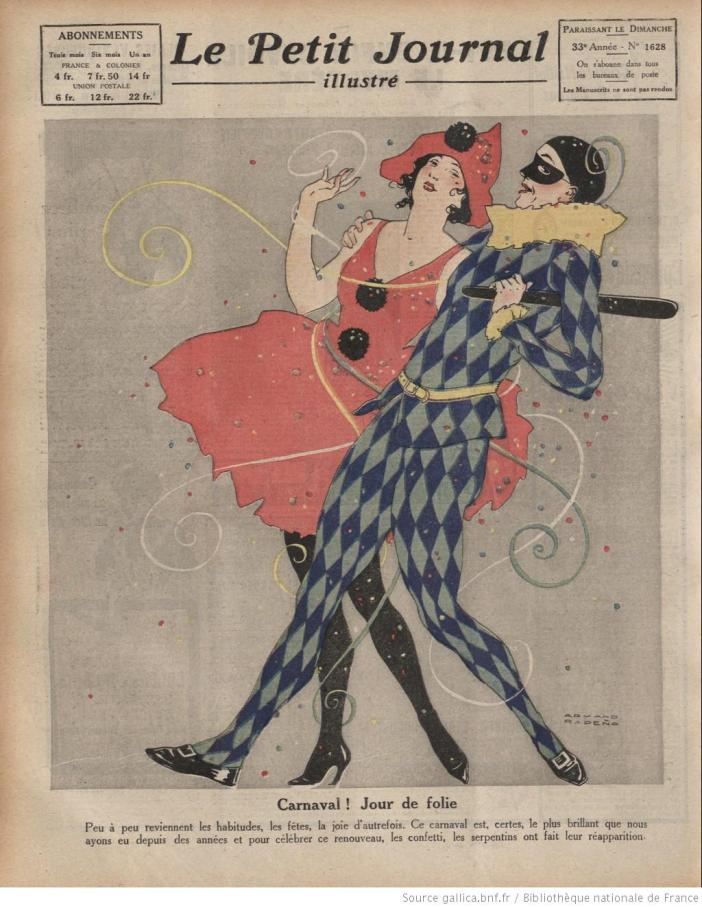The 1920 Paris Carnaval featured on the Petit Journal illustré (#1628)