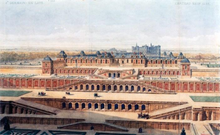 Château-Neuf of Saint-Germain-en-Laye in 1637 by Auguste Alexandre Guillaumot