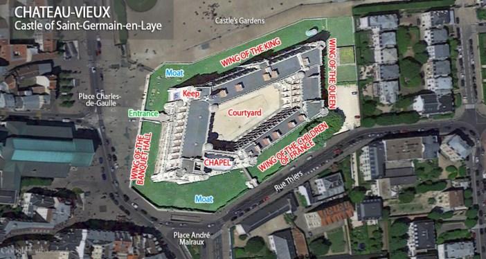 Map of Saint-Germain-en-Laye Castle by French Moments
