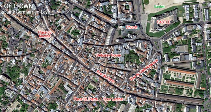 Map of Saint-Germain-en-Laye Old Town by French Moments