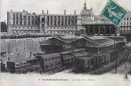 The railway station of Saint-Germain-en-Laye in the 19th c.