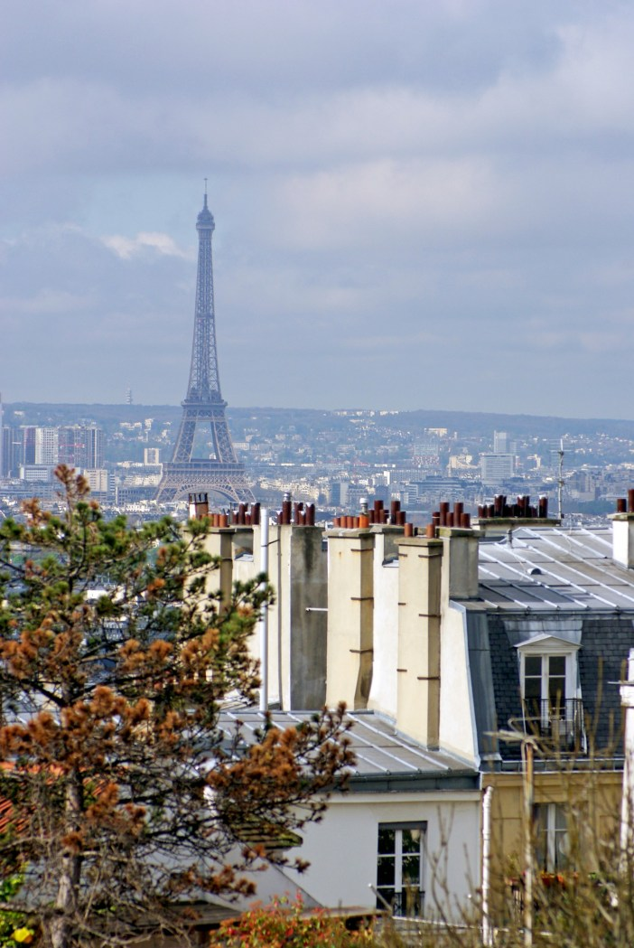The Eiffel Tower from Square Nadar, Montmartre © French Moments