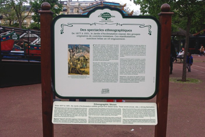 Commemorative Plaque at the Jardin d'Acclimatation Paris © French Moments