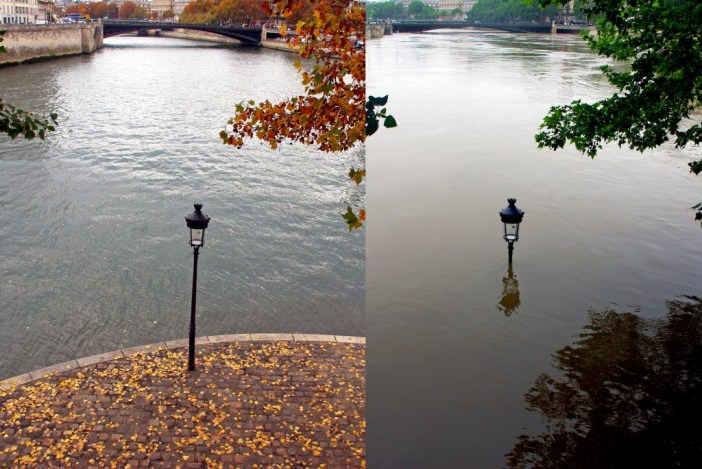Paris before and after the 2016 floods © French Moments