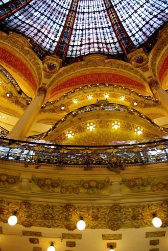 Art Nouveau Cupola in the Galeries Lafayette