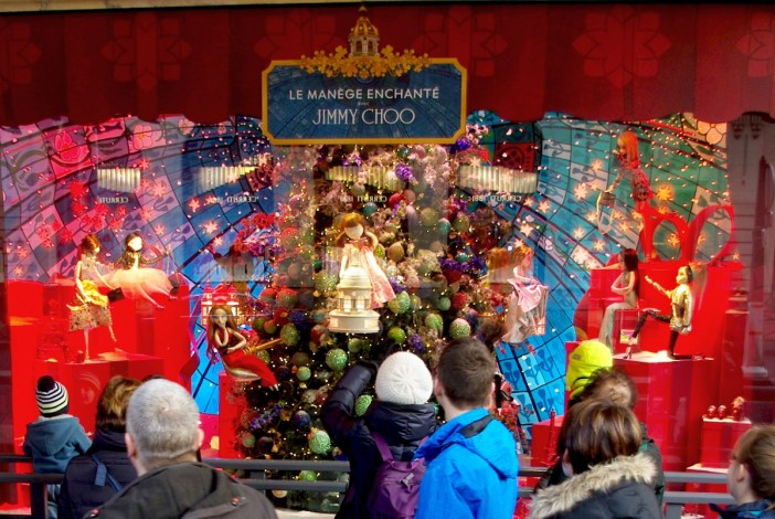 Photos of Christmas in France - Printemps Window Displays © French Moments