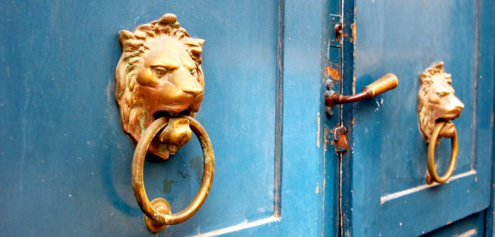 Paris door knockers and handles