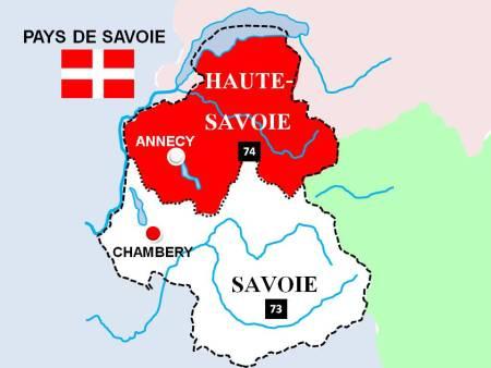 Map of Savoie Haute-Savoie