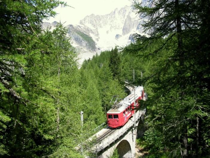 Montenvers Train by Brice Rothschild (GNU)