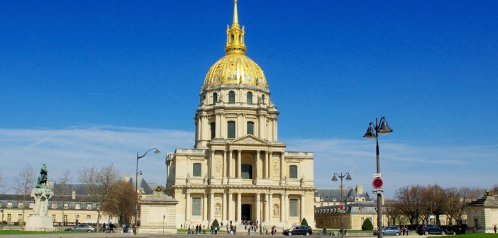 The Dome church of the Hôtel des Invalides seen from Place Vauban Paris © French Moments