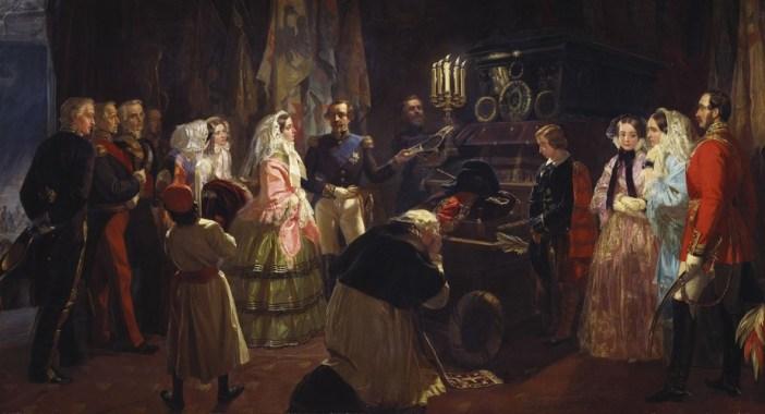 Queen Victoria's visit to Napoleon's tomb in 1855