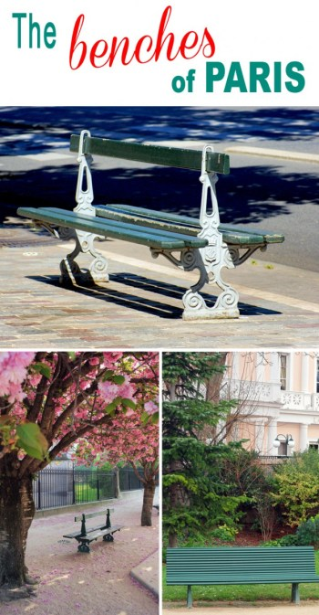 Find out more about the iconic benches of Paris © French Moments