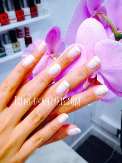 Beauté des mains avec vernis permanent french