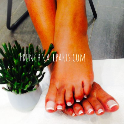 Pose vernis french pieds