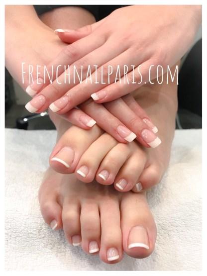 Beauté des mains et pieds avec vernis french