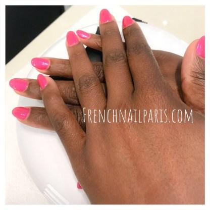 Remplissage résine mains avec vernis permanent