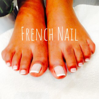 Pose vernis permanent french pieds