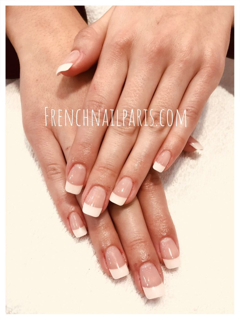 Pose vernis permanent french mains