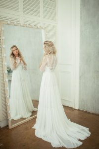 Robe de mariée avec manches