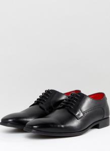 Chaussures derby en cuir noir