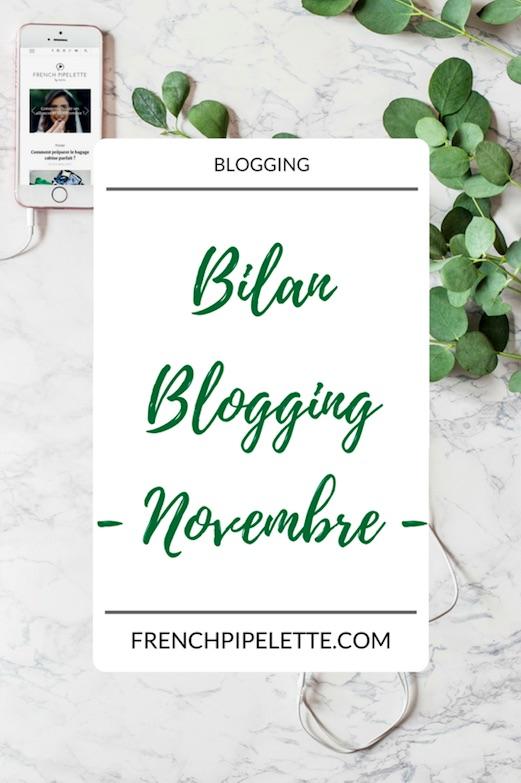 Bilan blogging novembre