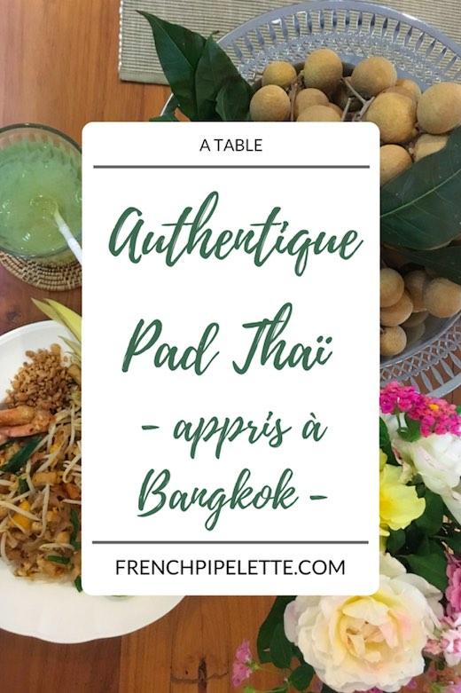 Authentique Pad Thaï appris à Bangkok