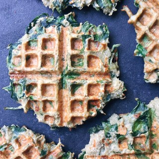 Paleo Potato and Spinach Waffles (dairy free + gluten free)