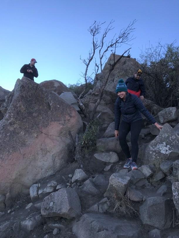Cerro Manquehue Day Hike in Santiago, Trail Descend