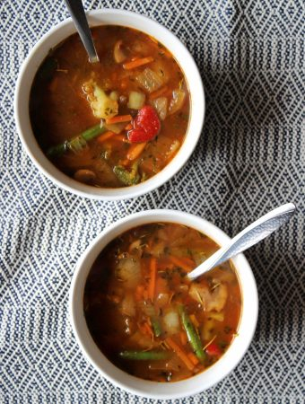Easy 10 Minute Vegetable Pantry Soup with Beef Broth