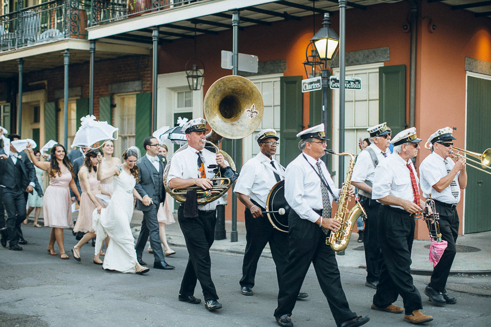 049 New Orleans Wedding Second Line
