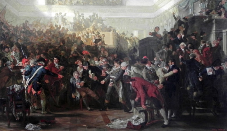 Fall of Maximilien Robespierre.