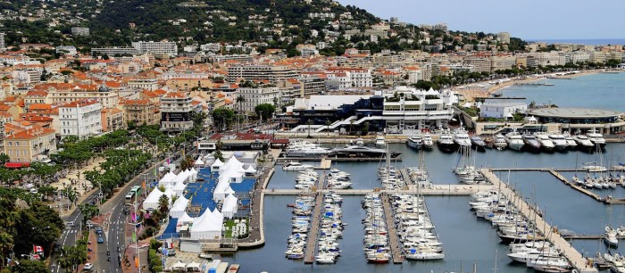 View of the Port of Cannes & Palais des Festivals