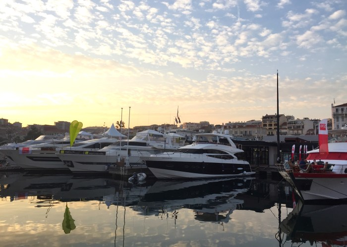 Yachts at MIPIM 2015 in Cannes, France