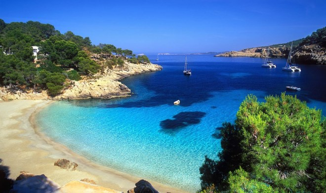 Beach on the Balearic Island of Ibiza, Spain