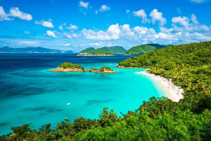 Baie de tronc, St John, Virgin Islands
