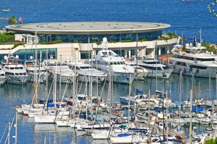 Yachts Palais des Festivals in Cannes, France