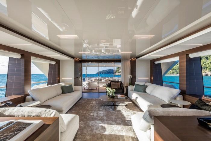 Custom Line Navetta 37 yacht saloon view