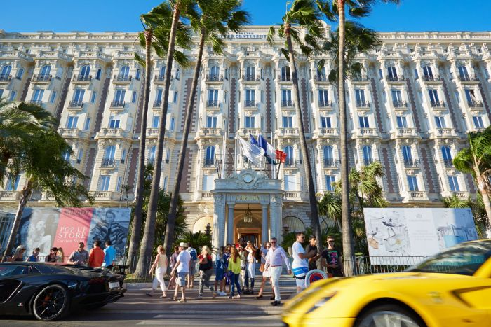 The Hotel Carlton in Cannes, France