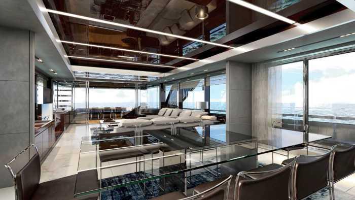 Riva 110 Yacht Saloon
