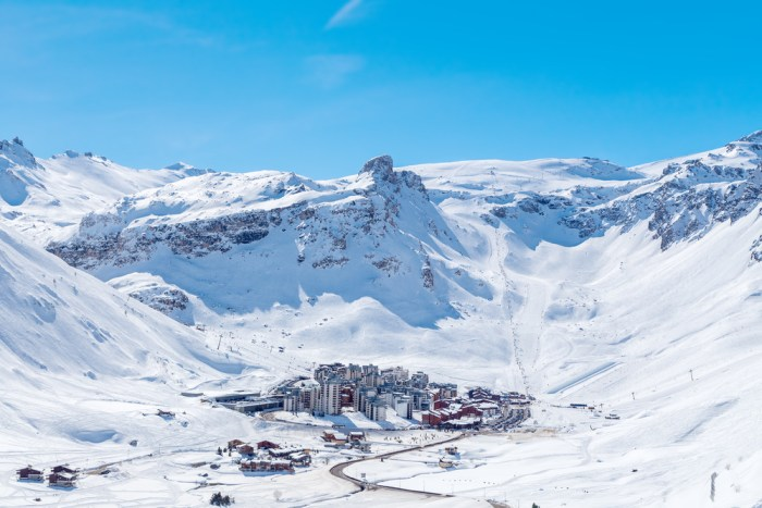 The ski resort of Tignes, France