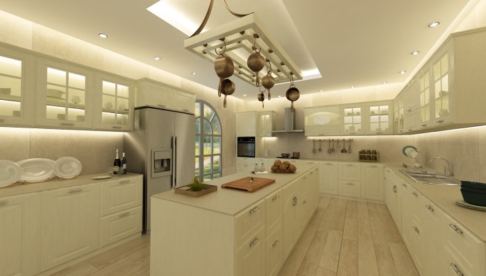 Kitchen in villa in Mougins, France