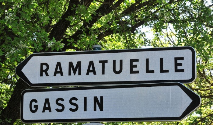 Gassin and Ramatuelle road sign