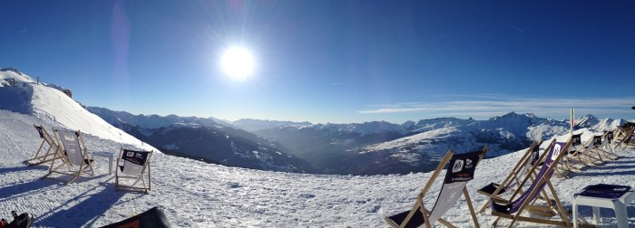 Panoramic Alpine Ski View