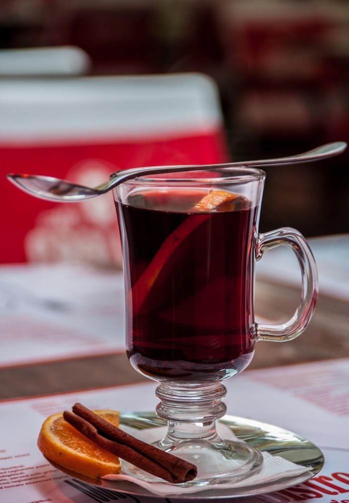 Vin Chaud in French cafe